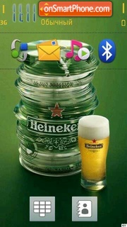 Beer Heineken theme screenshot