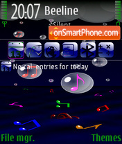 Music Rain FP theme screenshot