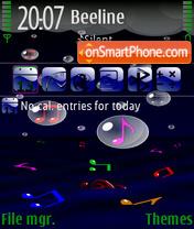 Music Rain FP es el tema de pantalla