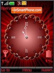 SWF analog clock $ ind theme screenshot
