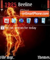 Скриншот темы Fire Girl