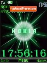 SWF clock Nokia anim theme screenshot