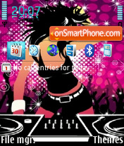 Скриншот темы Disco Girl