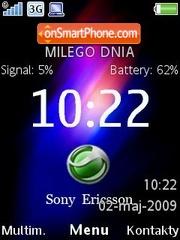 Colourite C905 Clock es el tema de pantalla