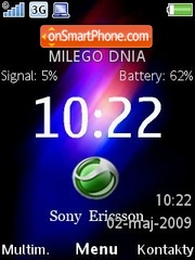 Скриншот темы Colourite C905 Clock