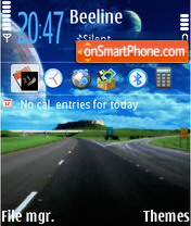 Highway 01 tema screenshot