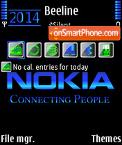 Nokia Blue 03 theme screenshot