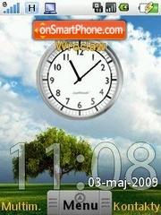 Скриншот темы HTC Android Clock SWF