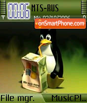 Penguin Linux theme screenshot