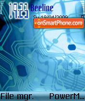Bluetech theme screenshot