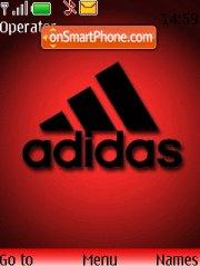 Red-Adidas tema screenshot