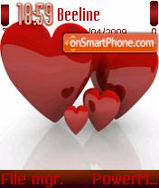 Red Heart 02 theme screenshot