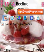 Raspberry ice cream theme screenshot