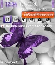 Скриншот темы Purple Butterfly