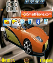Скриншот темы Fiat QP Sport