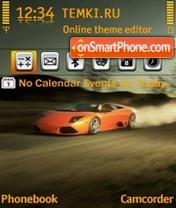 Lamborghini Orange theme screenshot