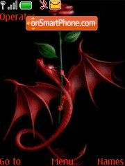 Скриншот темы Dragon and Rose