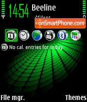 Скриншот темы Green Abstrakt