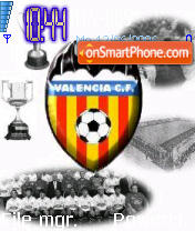 Valencia CF theme screenshot