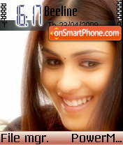 Genelia 01 theme screenshot