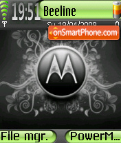 Hello Moto 01 tema screenshot