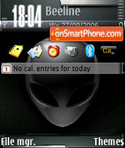 AlienWare tema screenshot