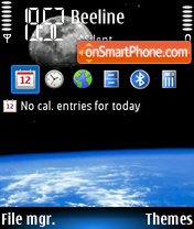 Earth Moon 01 theme screenshot