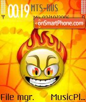 Emoticon Fire es el tema de pantalla