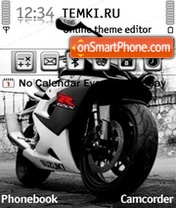 Suzuki Gsxr 1000 theme screenshot