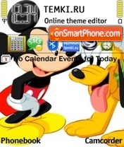 Pluto And Mickey theme screenshot