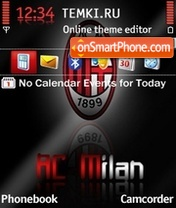 AC Milan 12 theme screenshot