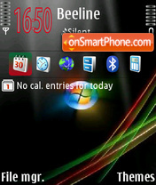 Vista red and green tema screenshot