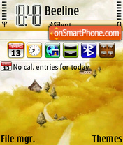 Yellow Land Nokia Theme tema screenshot