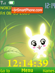 SWF clock speckle anim theme screenshot