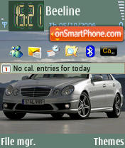 Mercedes E 63 AMG theme screenshot