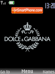Скриншот темы Dolce & Gabbana