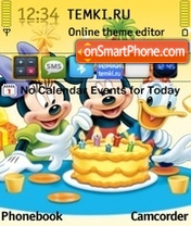 Happy Birthday Mickey theme screenshot
