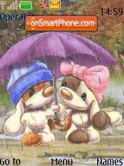Dogs in Rain theme screenshot