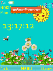 SWF clock spring anim theme screenshot