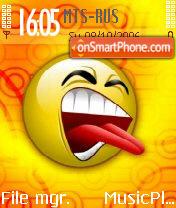 Smilehard Emoticon Bleah es el tema de pantalla
