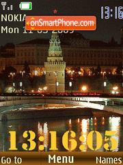 SWF Moscow clock anim tema screenshot