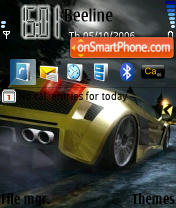Need For Speed Carbon Cars theme screenshot