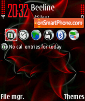 Red Abstrakt 01 tema screenshot