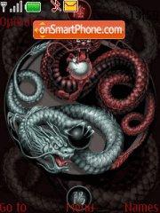Dragon in black es el tema de pantalla