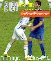 Headbutt Zidane Materazzi theme screenshot