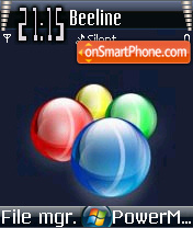 Vista Balls theme screenshot