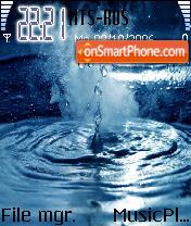 Water Drop theme screenshot