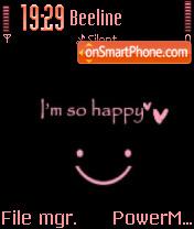 Im So Happy es el tema de pantalla