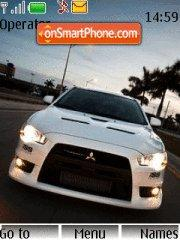 Mitsubishi Evo X theme screenshot