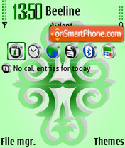 Green ornament tema screenshot